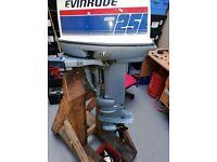 EVINRUDE 25HP ELECTRIC START OUTBOARD ENGINE. SHORT SHAFT.