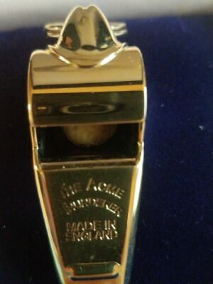 Acme Thunderer Whistle 60.5 Gold Plated with presentation Gift Box NEW IN BOX