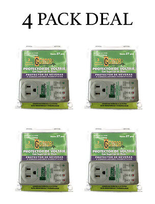 4 Pack New Refrigerator 1800 Watts Voltage Brownout Appliance Surge Protector