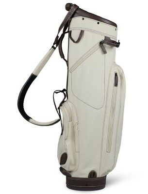 SUN MOUNTAIN CANVAS LEATHER CART GOLF BAG - BROWN/CANVAS NEW