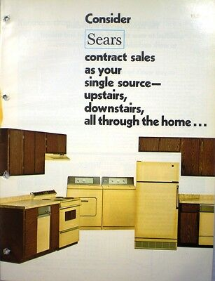 Vtg Sears Kenmore Appliances Catalog Retro Kitchen Ranges Oven Refrigerator 1975