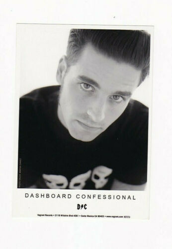 Dashboard Confessional Chris Carrabba circa 2000 Photo B&W 5x7 Print