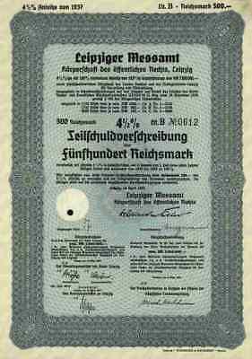 Leipziger Messamt B Körperschaft öffentlichen Rechts 1937 Leipzig Messe Sachsen