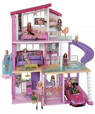 Barbie Estate Dream House Doll House Playset 70+ Toys Accessories Same Day Ship