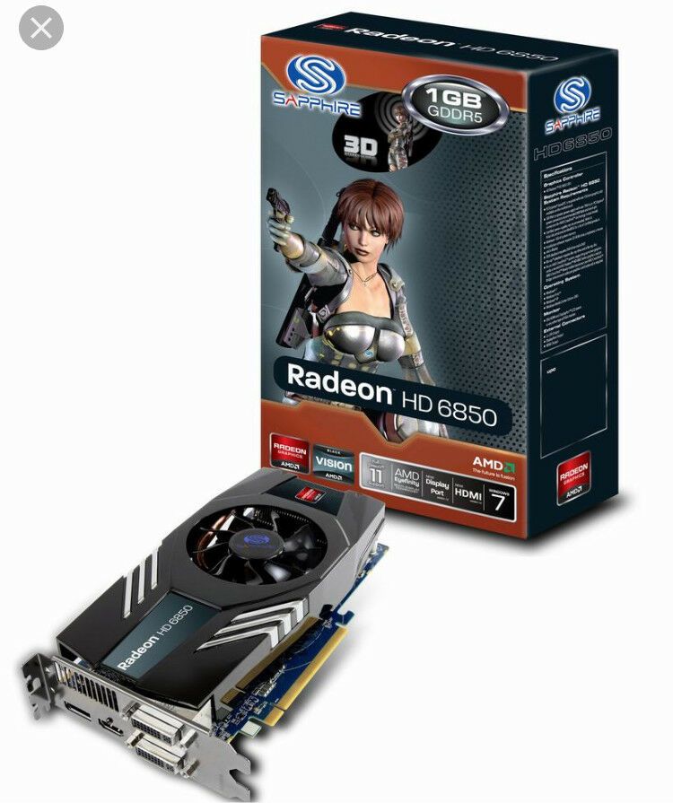 Radeon HD 6850 Graphics Card New