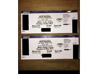 2x Iron Maiden Tickets Newcastle 14th May 2017