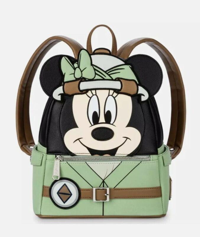 NEW Disney Parks Loungefly Animal Kingdom Safari Minnie Mouse Mini Backpack Bag