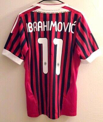 Adidas AC Milan Ibrahimović 11/12 Home Jersey / Shirt - (Size M)