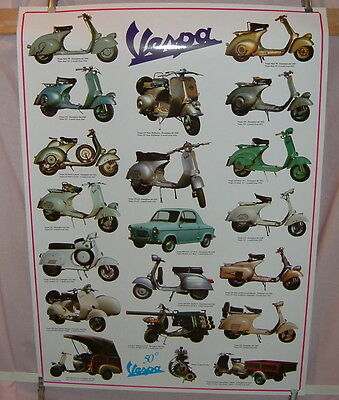 VESPA PURPLE POSTER HIGH QUALITY 65cm x 92cm ITALIAN PRINT LAST ONE AVAILABLE