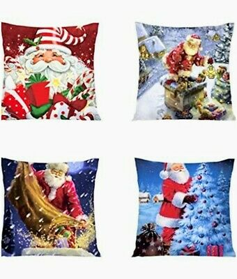"NWoT pillow covers set Holiday Christmas 18"" x 18"" Zippered water resistant"