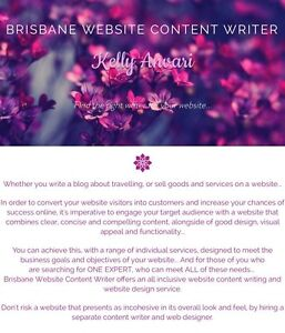 Website content writing, copywriting, editing, web design Kenmore Brisbane North West Preview