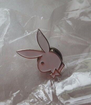 NEW WHITE PLAYBOY BUNNY HAT LAPEL TIE PIN