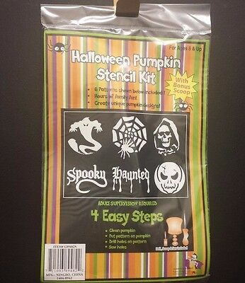 Halloween Pumpkin Carving Kit Includes Drill, Carving Knife, Scoop & 6 Patterns  (Pumpkin Carving Halloween Patterns)