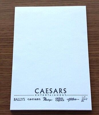 Las Vegas Hilton Caesars Entertainment Vintage Note Pad 3 5  X 5  Mint Condition