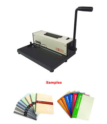 110v Desk Calendar Notebook Maker Plastic Spiral Coil Binding Machine