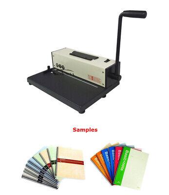110v Desk Calendar Notebook Maker Plastic Spiral Coil Binding Machine