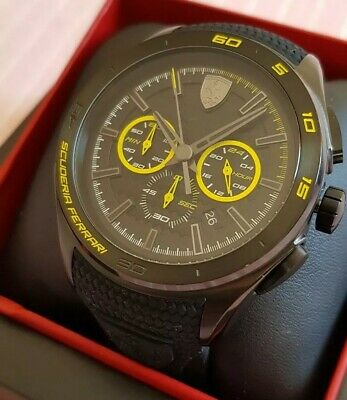 LAST ONE!! Mens Ferrari 45mm Chronograph Watch. New!  RRP £245