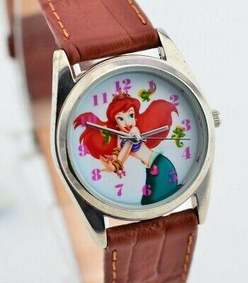 F678 Vintage Disney the Little Mermaid Cute Petite Watch Disneyland Japan 13.1