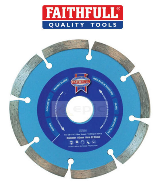 "Faithfull Contract 115mm 4 1/2"" Saw/Grinder Diamond Cutting Blade Disc FAIDB115C"