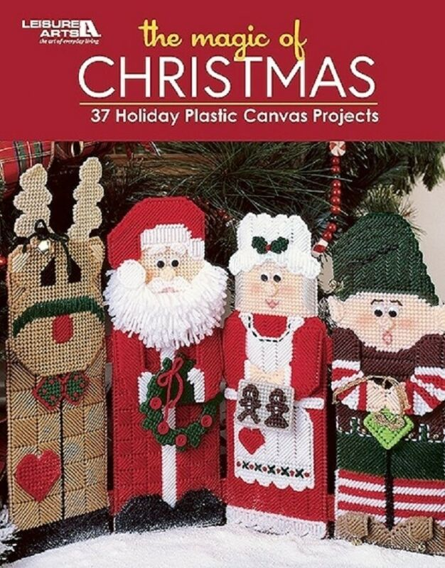 Plastic Canvas Pattern Book The MAGIC Of CHRISTMAS ~ 37 Designs Decor, Ornament+