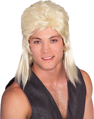 Red Mullet Wig (Mens Mullet Wig Redneck Hair Costume Mullett Red Neck Hillbilly Adult Blonde)