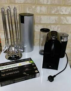 DeLonghi UMilk Pure Black & Aeroccino | Nespresso Yokine Stirling Area Preview