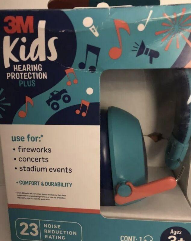 3M Kids Hearing Protection Plus Noise Reduction Headphones Ages 3+ 23 Decibels