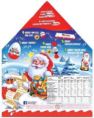 Kinder Christmas Advent Calendar, 24 Count Assorted Chocolates, 182 grams