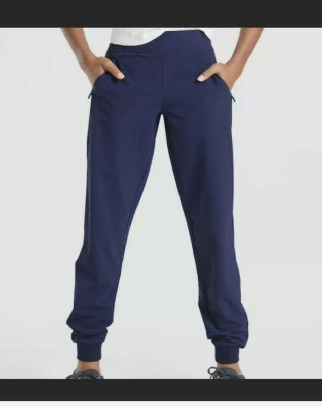 Athleta Girl Navy Get Up & Go Jogger Pants Sz M 8/10