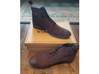 Brown Men's Boots by Dead Vintage, Size UK 10, Brand New in Box