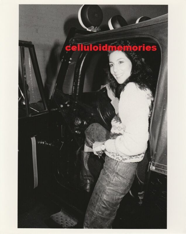 Original Photo Cher of Sonny & Cher Shopping 12-14-82