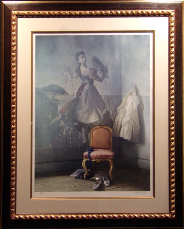 Alain Senez Untitled Giclee Chair La Danseus Hand Signed &numbered Make An Offer