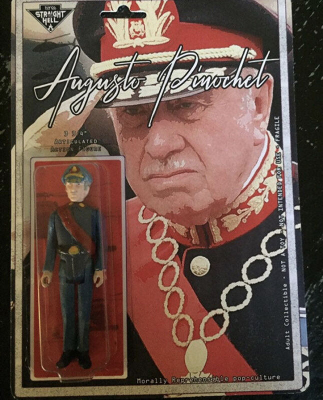 """Augusto Pinochet, Helicopter Ride, Chile, Handmade 3.75"""" Action Figure"""