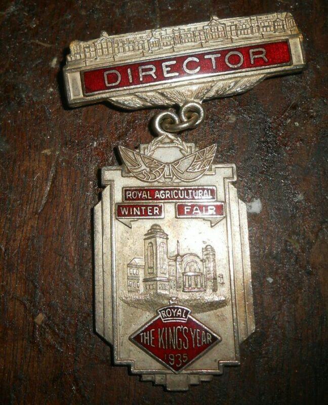 ROYAL AGRICULTURAL WINTER FAIR  TORONTO DIRECTOR BADAGE  1935