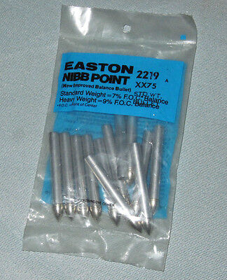 2219 EASTON XX75-7% NIBB Standard Weight Bullet Points - Aluminum Target Arrows Aluminum Standard Weight
