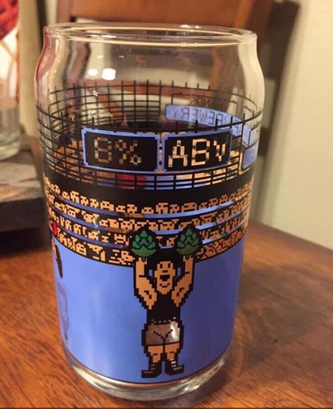 Spindletap Brewery Heavy Hands 8-bit Glass Mike Tyson
