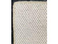 New wool natural rug