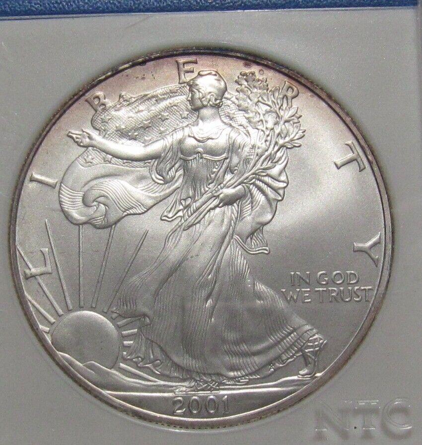 2001 American Silver Eagle Dollar - World Trade Center Recovery - BU - 49SU-2 - $43.00