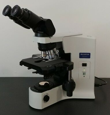 Olympus Microscope Bx41 Clinical Pathology With 50x Oil And Binocular Head
