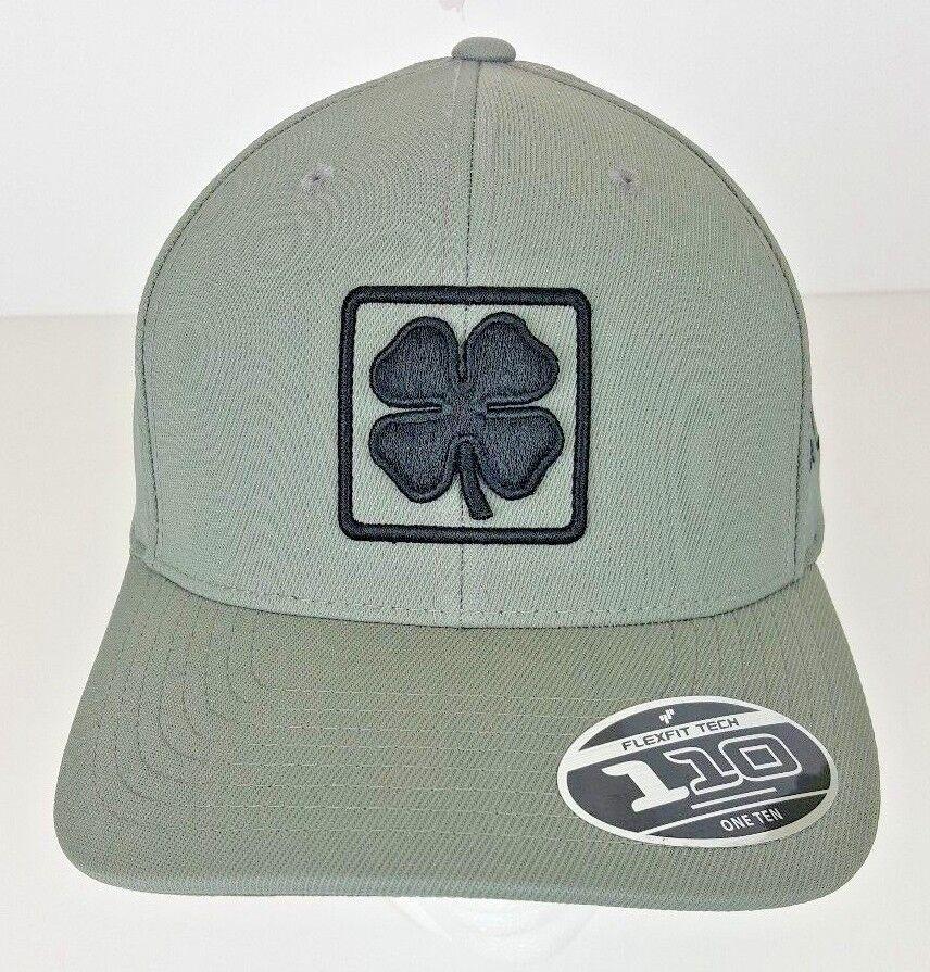 Black Clover Gray w/ Black Logo Adjustable Hat BC Lucky Squa