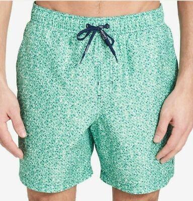 Calvin Klein Men's Printed Euro 6'' Inseam Swim Trunks, Spruce Green, XL