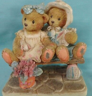 Cherished Bears  Tracie & Nicole figurines 1992 Side by side friends # 3H2/472