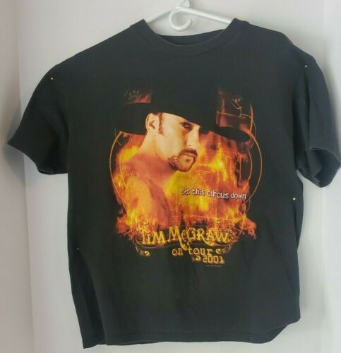 Tim McGraw 2001 tour t-shirt, Set this Circus down. Adult Large
