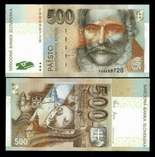 SLOVAKIA 500 KORUNA P-46 2006 ST.MICHAEL EURO UNC MONEY BILL EUROPEAN BANK NOTE