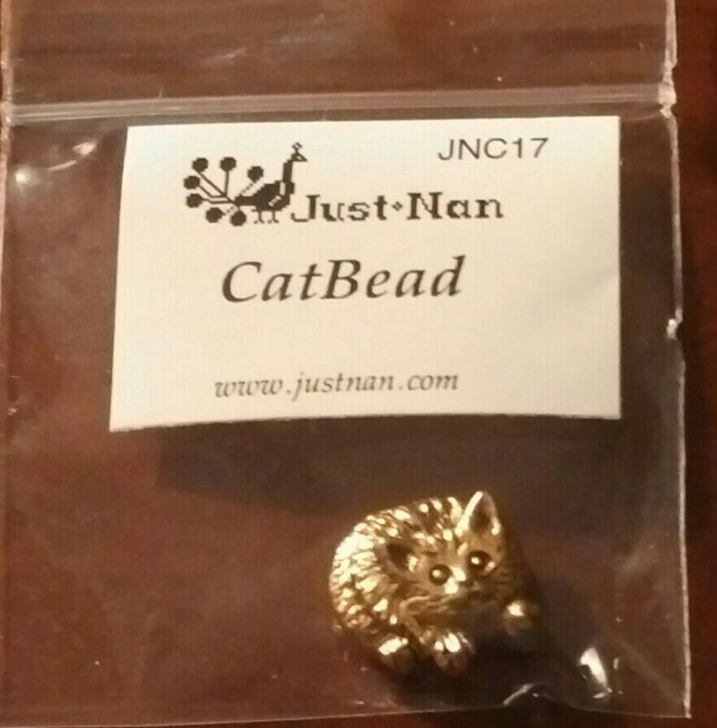 JUST NAN CAT BEAD CHARM FOR MISS KITTY
