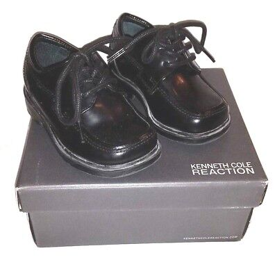 Dress Shoes For Toddler Boy (Black Lace-up Dress Shoes for Toddler Boy by Kenneth Cole Reaction/Size)