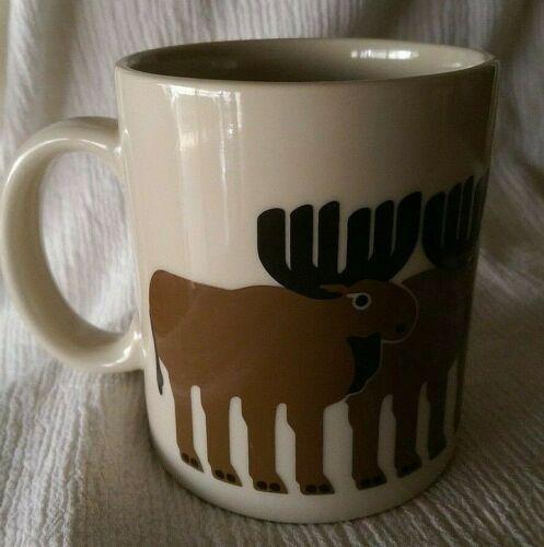 Vintage Taylor & NG Minimals Moose Herd Ceramic Coffee Tea Cup Mug 12 oz.