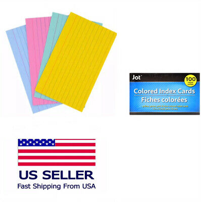 Index Cards Ruled 3 X 5 100 Cards Ideal For Presentations Colored