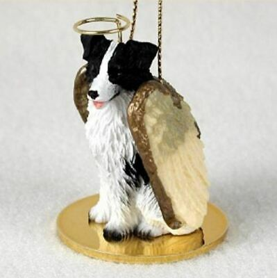 BORDER COLLIE  ANGEL DOG CHRISTMAS ORNAMENT HOLIDAY  Figurine Statue -
