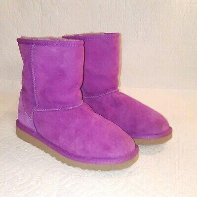 Ugg Sale Girls (UGG AUSTRALIA 5251Classic Short Purple Girls Sheepskin LeatherYouth Sz 4)